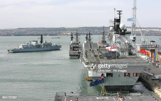 HMS St Albans at Portsmouth Navy Base ahead of the Meet Your Navy event being held this weekend