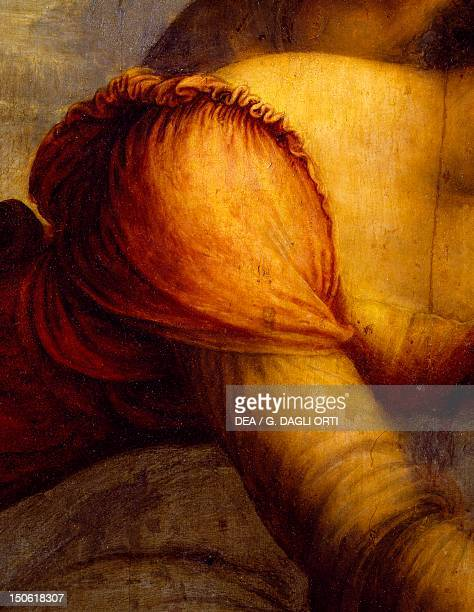 St Anne the Virgin and Child with the Lamb 15081513 by Leonardo da Vinci oil on canvas 168x130 cm Detail