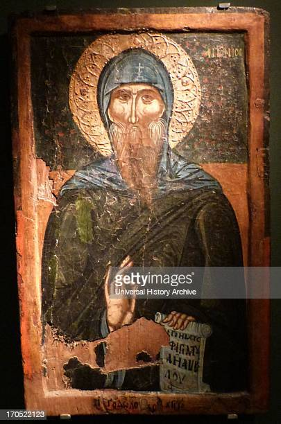 St Anthony end of the 14th century Made in a provincial workshop following the expressive anticlassical tendency of palaioligan painting