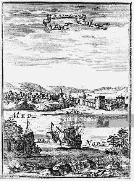 St Augustine Florida 1686 From Description de l'Univers by Allain Manesson Mallet