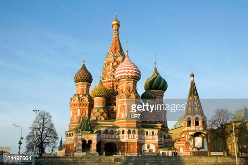 St Basil's Cathedral 16 century Red Square Moscow Russia