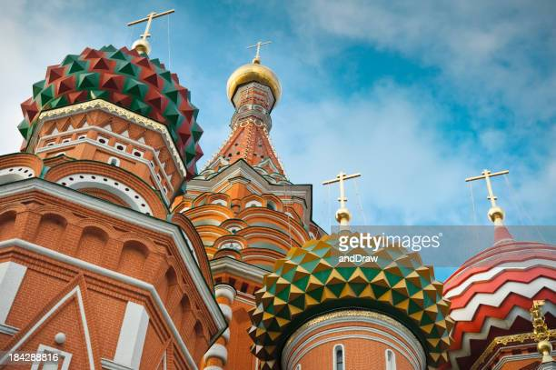 St. basil's cathedral auf dem Roten Platz in Moskau.