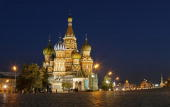 St Basil's Cathedral on Red Square is seen September 26 2003 in Moscow