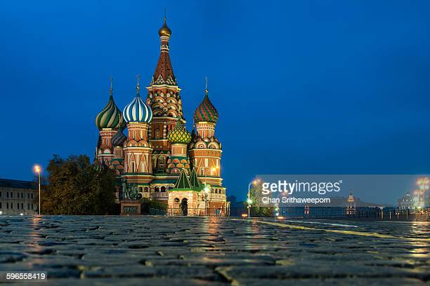 St. Basils cathedral on Red Square, Moscow,Russia
