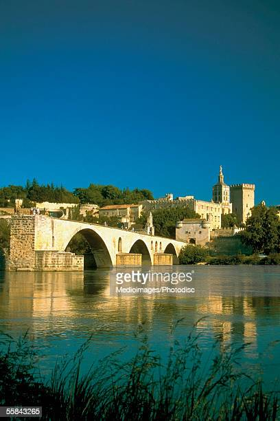 St. Benezet's Bridge over Rhone River, Avignon, Provence-Alpes-Cote d'Azur, France