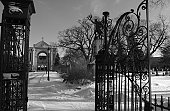 St. Boniface Cathedral - Winnipeg, Manitoba, Canada in winter
