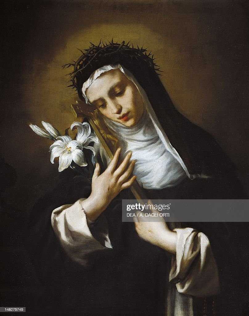 St Catherine of Siena late 17th century artist of the Lombard school oil on canvas 92x79 cm Pavia Musei Civici Del Castello Visconteo Pinacoteca...