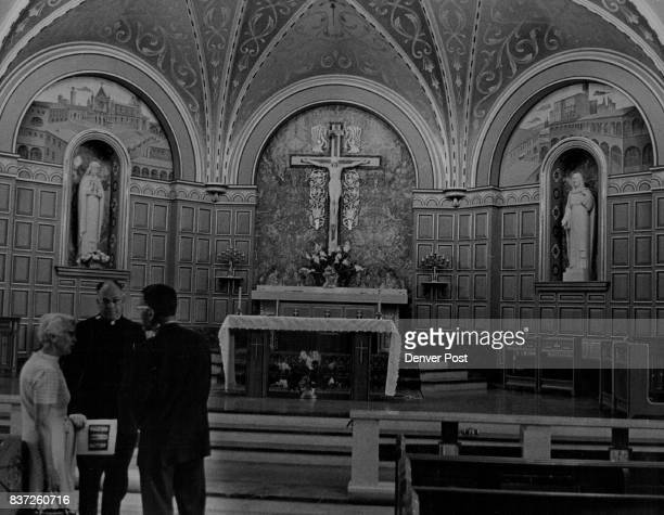 St Catherine Roman Catholic Church 'Faces of a City' Look at Denverites of Italian Descent The Rev Theodore Haas center shows Mrs Lee Johnson and...