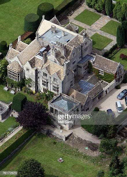 St Catherine's Court the UK home of actress Jane Seymour situated in the Cotswolds Area of Outstanding Natural Beauty near Bath as seen from the air...