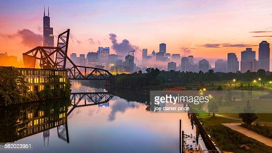 St. Charles Air Line Bridge, Chicago, Illinois, Am
