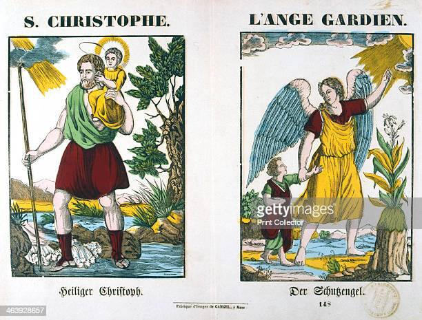 St Christopher and a Guardian Angel 19th century Legend has it that St Christopher was a 3rd century Canaanite giant whose task was to carry...