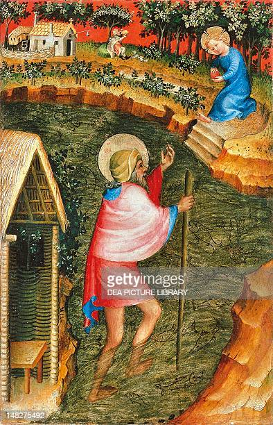 St Christopher outer panel of a domestic altarpiece 15th century by an unknown artist of the Burgundian school tempera on panel 33x21 cm Antwerp...