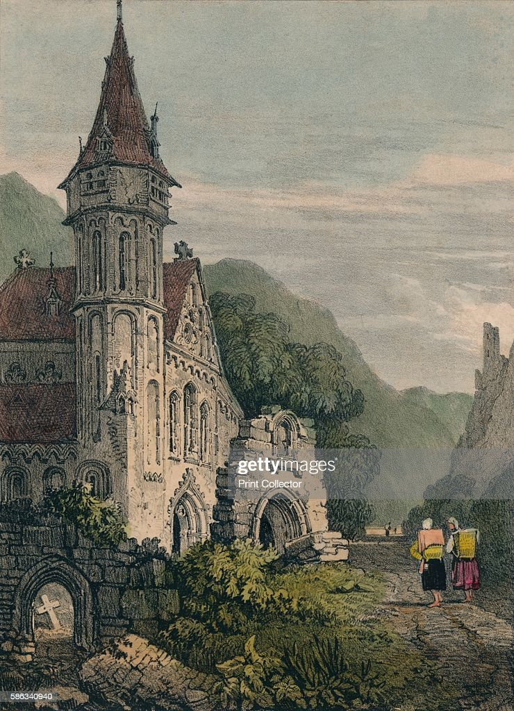 'St Clement' 1824 After Samuel Prout [R Ackermann London 1824] Artist Charles Joseph Hullmandel
