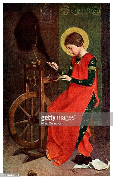 'St Elizabeth of Hungary Spinning Wool for the Poor' 1901 Elizabeth was the daughter of Andras II of Hungary After the death in 1227 of her husband...