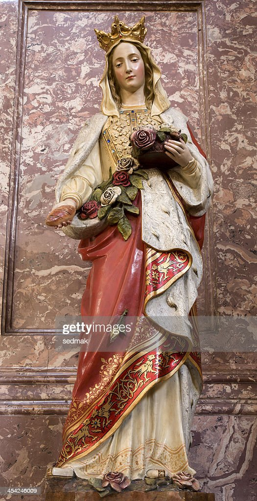st. Elizabeth statue from Bratislava : Stock Photo