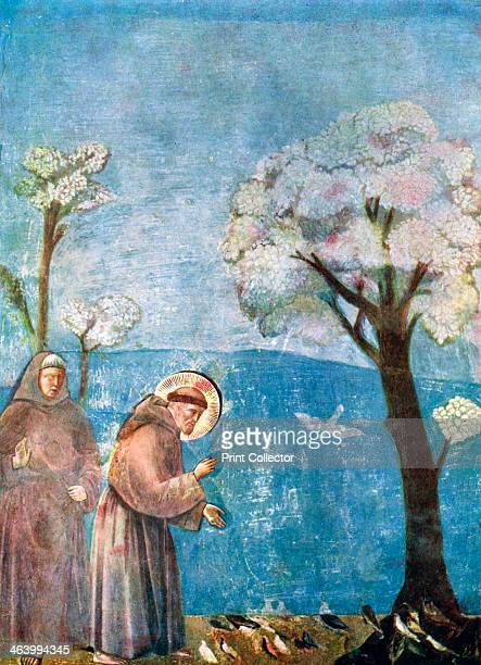 'St Francis Preaching to the Birds' 12971299 A print after a fresco in San Francesco Upper Church Assisi Italy from Art History and Literature...