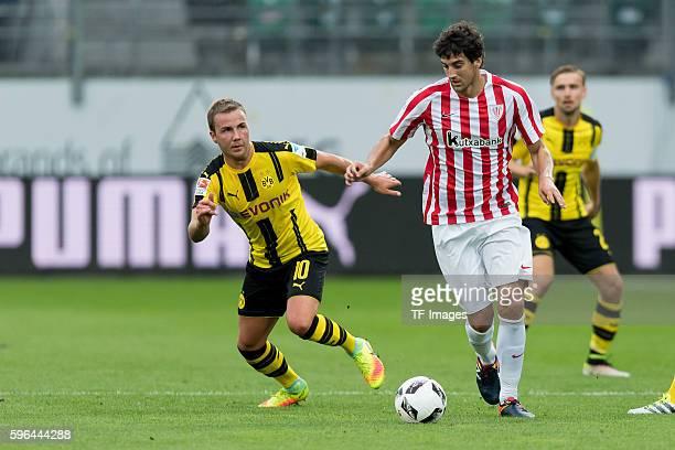 St Gallen Schweiz Testspiel Athletic Bilbao BV Borussia Dortmund BVB Mario Goetze gegen Mikel San Jose