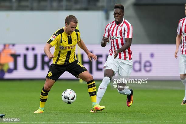 St Gallen Schweiz Testspiel Athletic Bilbao BV Borussia Dortmund BVB Mario Goetze gegen Inaki Williams