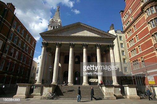 St George's Bloomsbury church. : Stock Photo