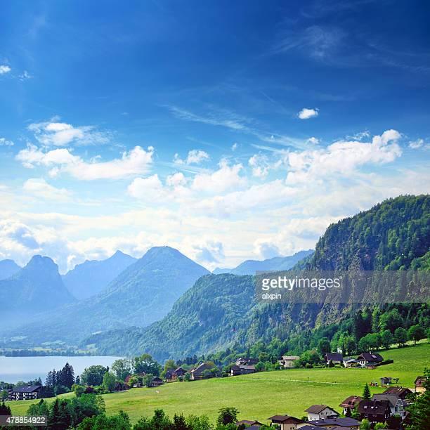 St. Gilgen village, Österreich