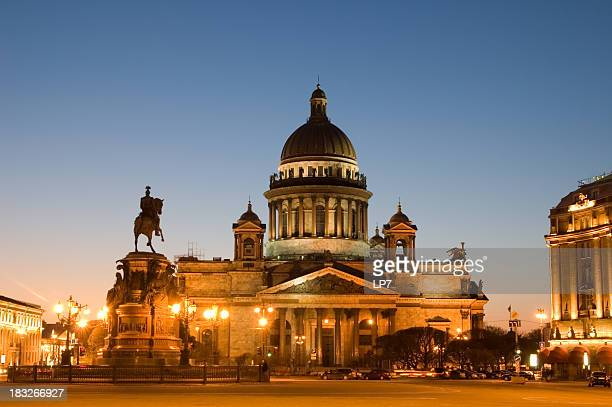 St Isaac's Cathedral in Saint Petersburg on sunset