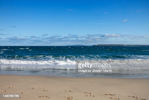 St. Ives beach in January : Stock Photo