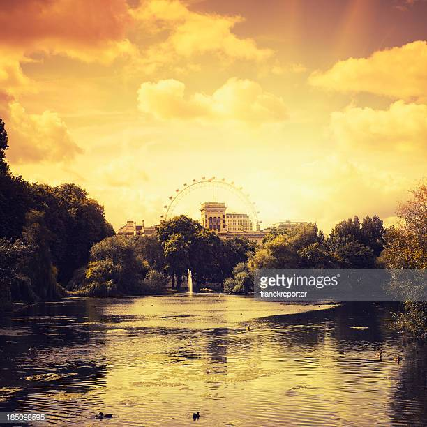St james park in London at sunset