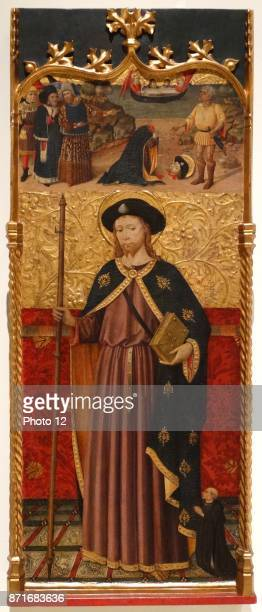St James with a donor Beheading of St James by Master of the Crossroads Dated 15th Century