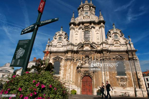 St Jean Baptiste and B_guinage church Brussels Belgium Place du B_guinage Beguinage square Brussels Belgium St Cath_rine neighborhood