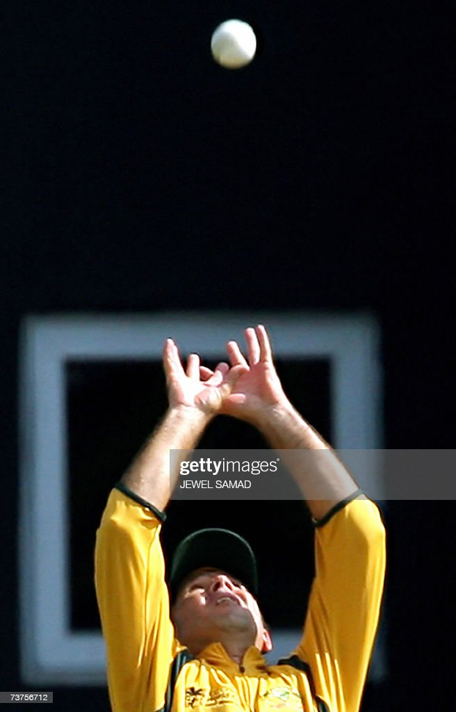 St John's ANTIGUA AND BARBUDA Australian cricket team captain Ricky Ponting successfully takes a catch to dismiss Bangladeshi batsman Mohammad...