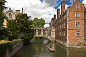 St John's College, punting in a canal