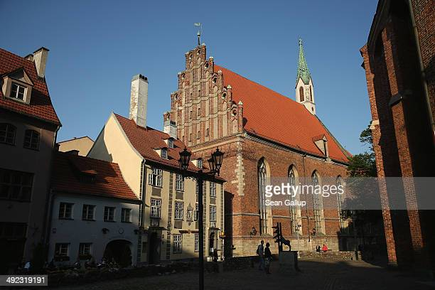 St John's Lutheran Church stands in the old city center on May 19 2014 in Riga Latvia Founded in 1201 the city is a former member of the Hanseatic...
