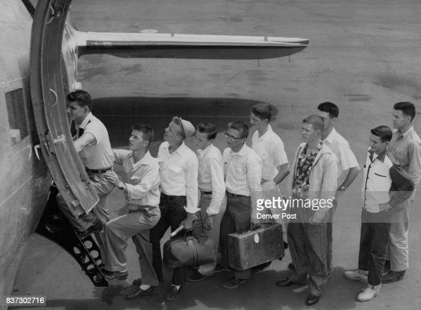 St John's Military Academy Ten students at St John's Military school at Salina Kan board an air force C47 at Lowry air force base to fly to Manhattan...