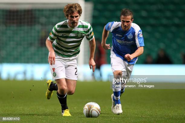 St Johnstone's Chris Millar and Celtic's Paddy McCourt