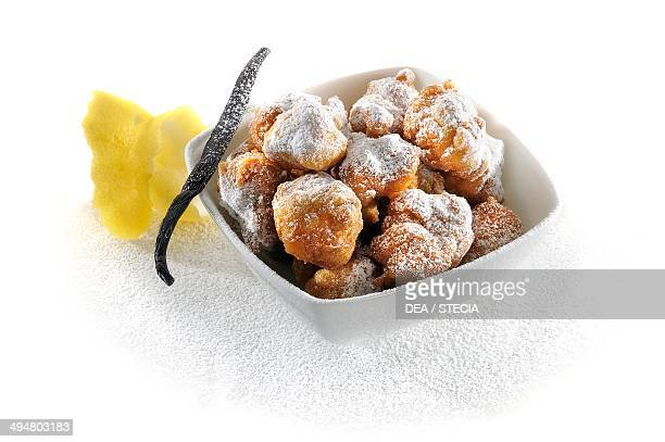 St Joseph beignet deepfried choux pastry filled with sweet custard Lazio Italy