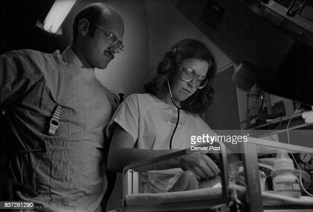 St Joseph Hospital Twodayold Jason Malliconi is checked for Jaundice by Jill Kaplan and Dr Roger Sheldon The program for nurse clinicians at Saint...