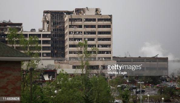 St Joseph's hospital in Joplin Missouri was hit by a tornado on Sunday May 22 2011