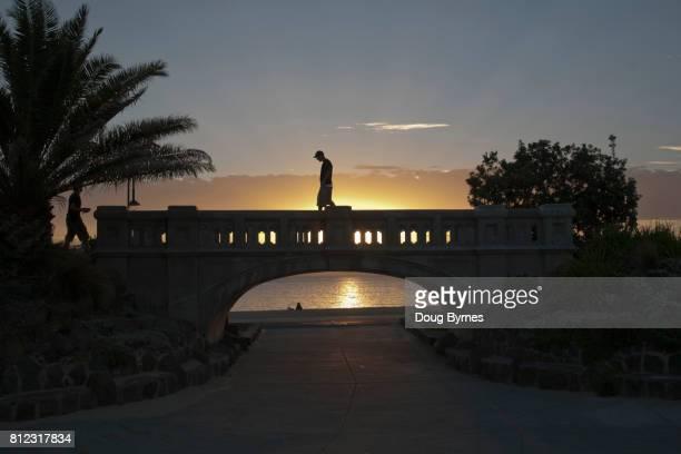St Kilda foot bridge at sunset