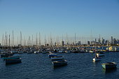 Picture is taken in 2017. It shows the St. Kilda Harbor in Melbourne Australia