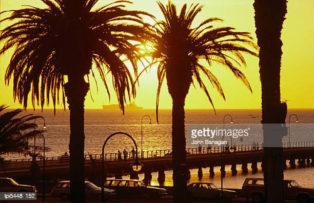 St Kilda pier at sunset, Melbourne, Australia