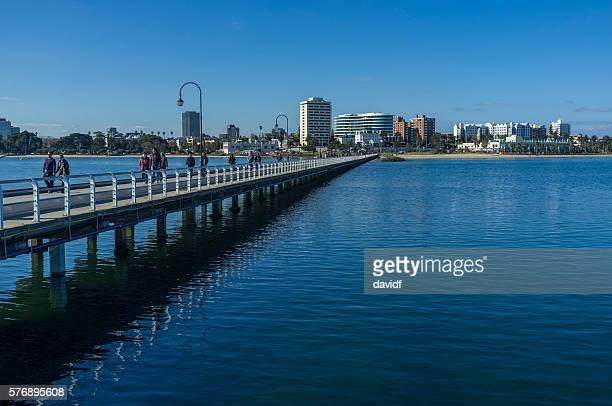 St Kilda Pier Tourists Melbourne Australia
