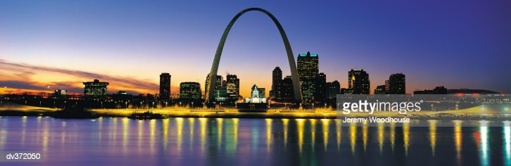 St Louis at sundown : Stock Photo