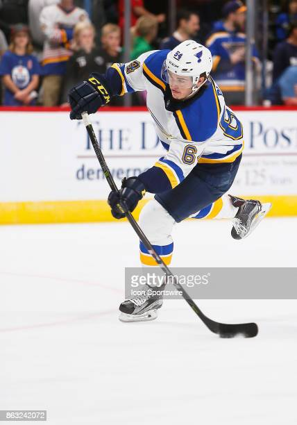 St Louis Blues left wing Sammy Blais skates during a regular season game between the Colorado Avalanche and the visiting St Louis Blues on October 19...