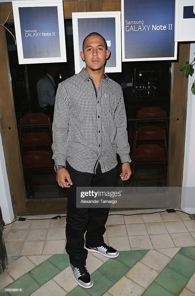 St. Louis Cardinals player Jon Jay attends Samsung Galaxy Note II Presents: The Next Big Thing & The Ring at Soho Beach House Miami on October 30, 2012 in Miami Beach, Florida.