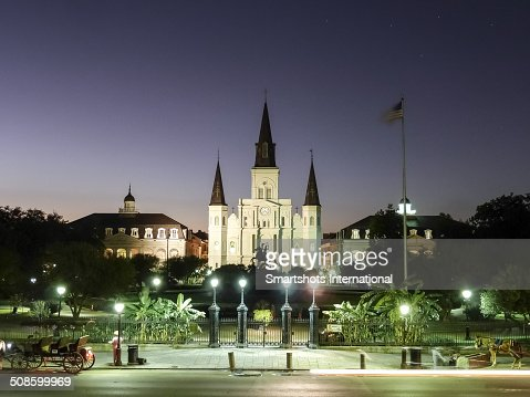 St. Louis Cathedral at dusk, New Orleans : Stock Photo