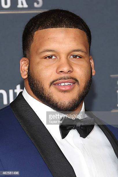 St Louis Rams defensive tackle Aaron Donald attends the 2015 NFL Honors at Phoenix Convention Center on January 31 2015 in Phoenix Arizona