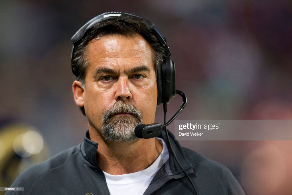 St. <b>Louis Rams</b> Head Coach Jeff Fisher walks down the sideline during the <b>...</b> - st-louis-rams-head-coach-jeff-fisher-walks-down-the-sideline-during-picture-id156661038