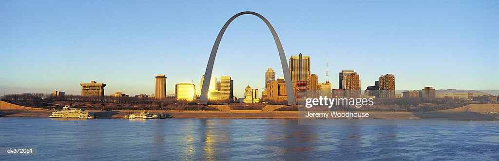 St Louis skyline : Stock Photo