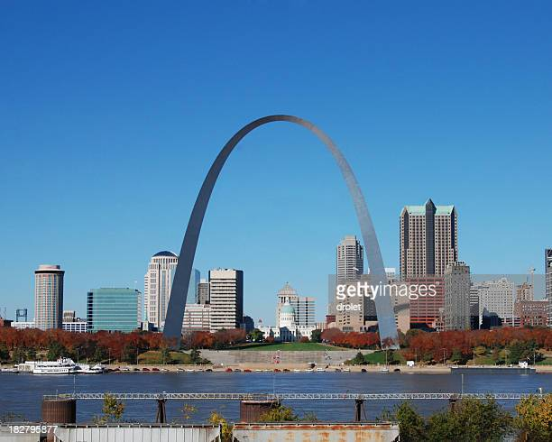 St louis Skyline with Arch