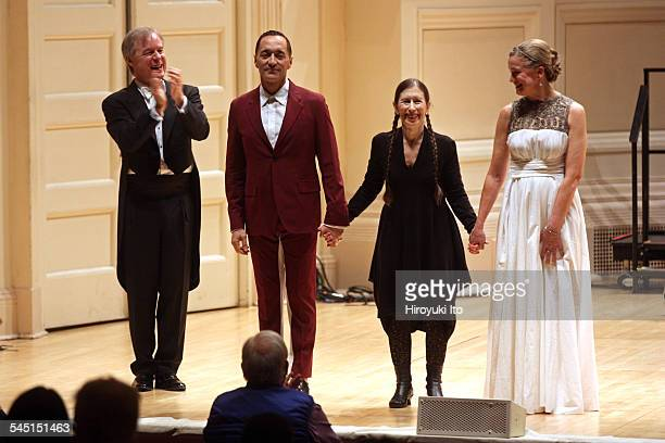 St Louis Symphony performing at Carnegie Hall on Friday night March 20 2015This imageFrom left the conductor David Robertson the baritone Theo...